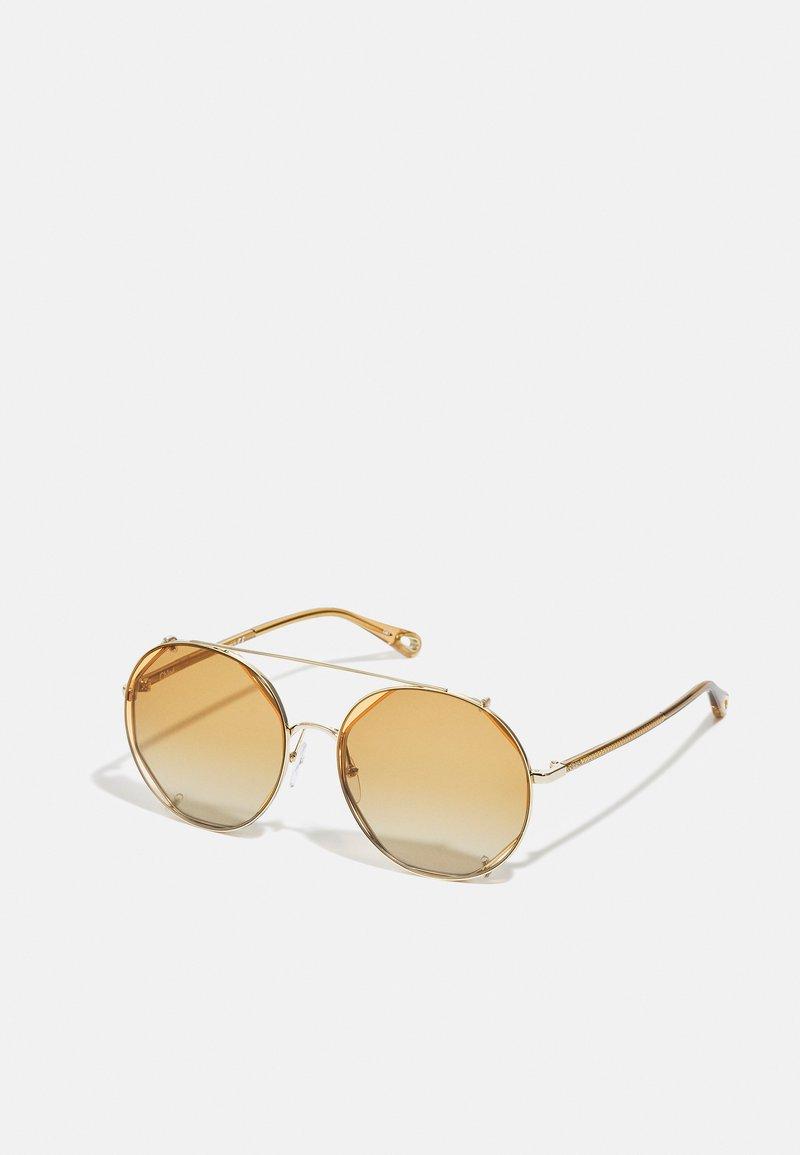 Chloé - Occhiali da sole - gold-coloured/brown/orange