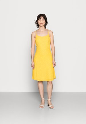 STRAPPA FIT AND FLARE - Vestido informal - yellow, white