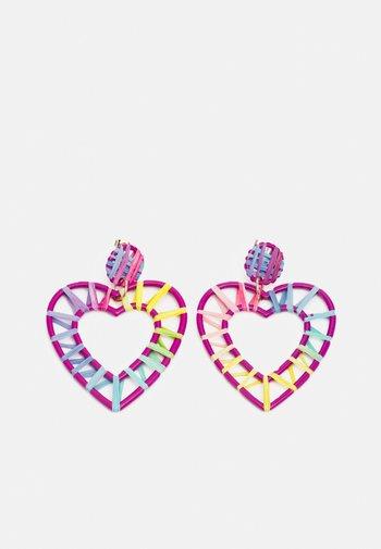 PCPHILIS EARRINGS - Earrings - pastel lavender/multi