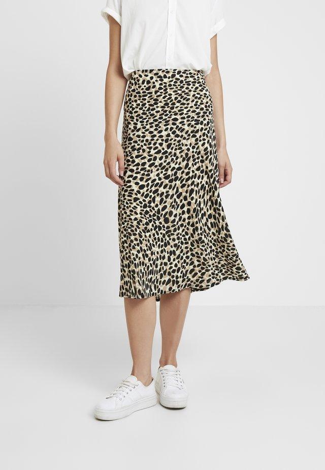 CARA LEOPARD - A-line skirt - beige