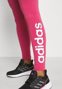 adidas Performance - LOUNGEWEAR ESSENTIALS HIGH-WAISTED LOGO LEGGINGS - Leggings - berry - 3