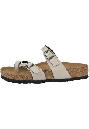 MAYARI - T-bar sandals - pull up stone (1005056)