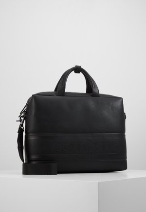 STRIPED LOGO - Briefcase - black