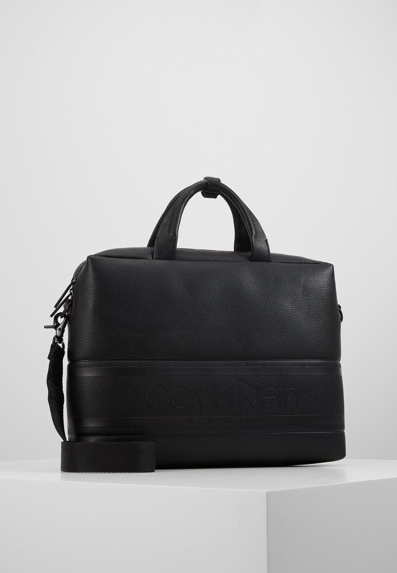 Calvin Klein - STRIPED LOGO - Aktówka - black
