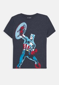 GAP - BOY - T-shirt print - navy heather - 0