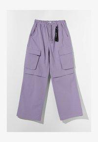 Bershka - Cargo trousers - mauve - 4