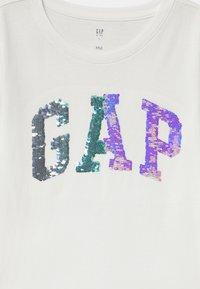 GAP - GIRL BETTER LOGO - Top sdlouhým rukávem - new off white - 2