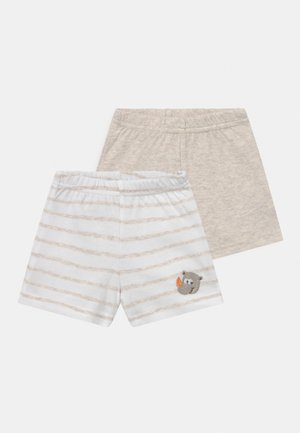 2 PACK UNISEX - Shorts - white/beige