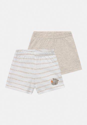 2 PACK UNISEX - Shorts - white/beige