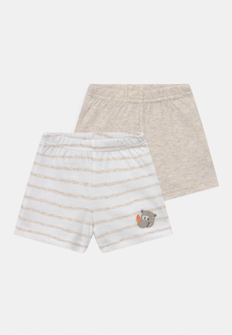 Jacky Baby - 2 PACK UNISEX - Shorts - white/beige