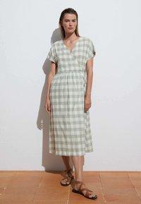 OYSHO - VICHY - Jumper dress - light green - 1