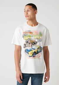 Wrangler - T-shirt imprimé - off white - 0