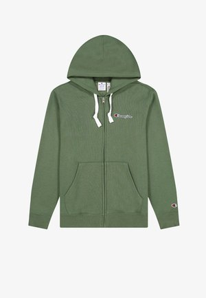 HOODED  - Zip-up sweatshirt - green