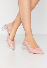 Lost Ink - SLINGBACK HEEL SHOE - Classic heels - nude - 0