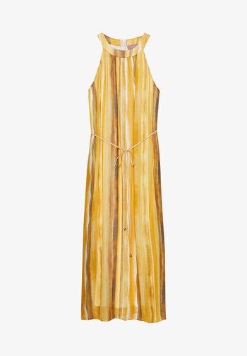 LANG - Robe d'été - yellow/cream