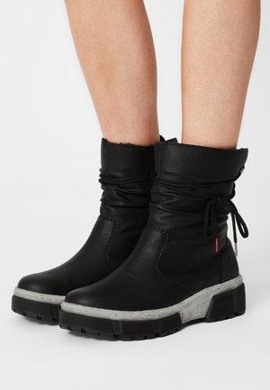 Winter boots - schwarz/altsilber
