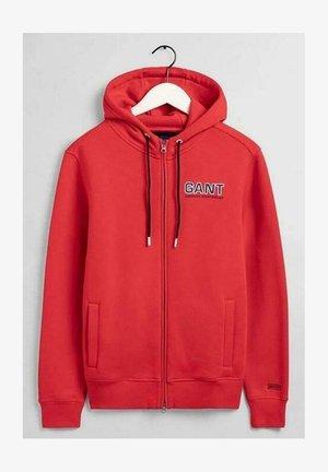 Zip-up hoodie - bright red