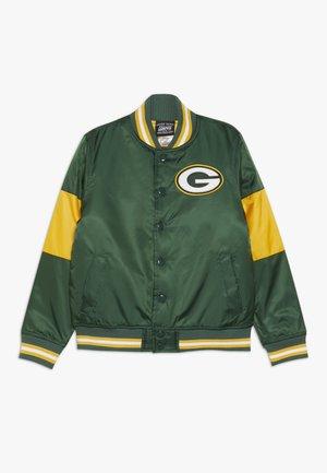 NFL GREEN BAY PACKERS VARSITY JACKET - Sportovní bunda - fir/university gold