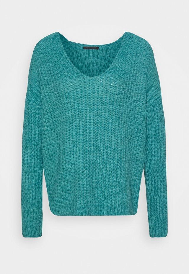 LINNA - Stickad tröja - grün
