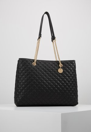 QUILTED SHOULDER BAG - Håndveske - black