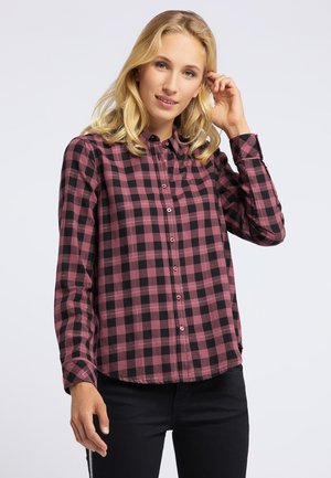 KARO - Button-down blouse - rot