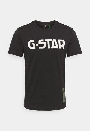R T S\S - T-shirt con stampa - dark black