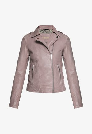 PALM - Leather jacket - grey