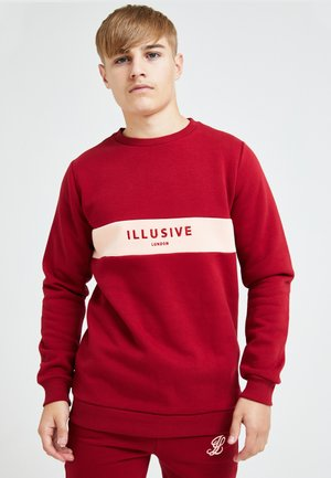 ILLUSIVE LONDON DIVERGENCE - Sweatshirt - red & pink