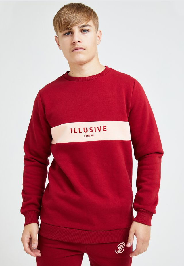 ILLUSIVE LONDON DIVERGENCE - Sweatshirt - red & pink