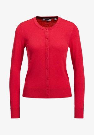 Vest - saffron red