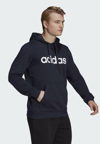 adidas Performance - ESSENTIALS FRENCH TERRY LINEAR LOGO HOODIE - Hoodie - blue - 2