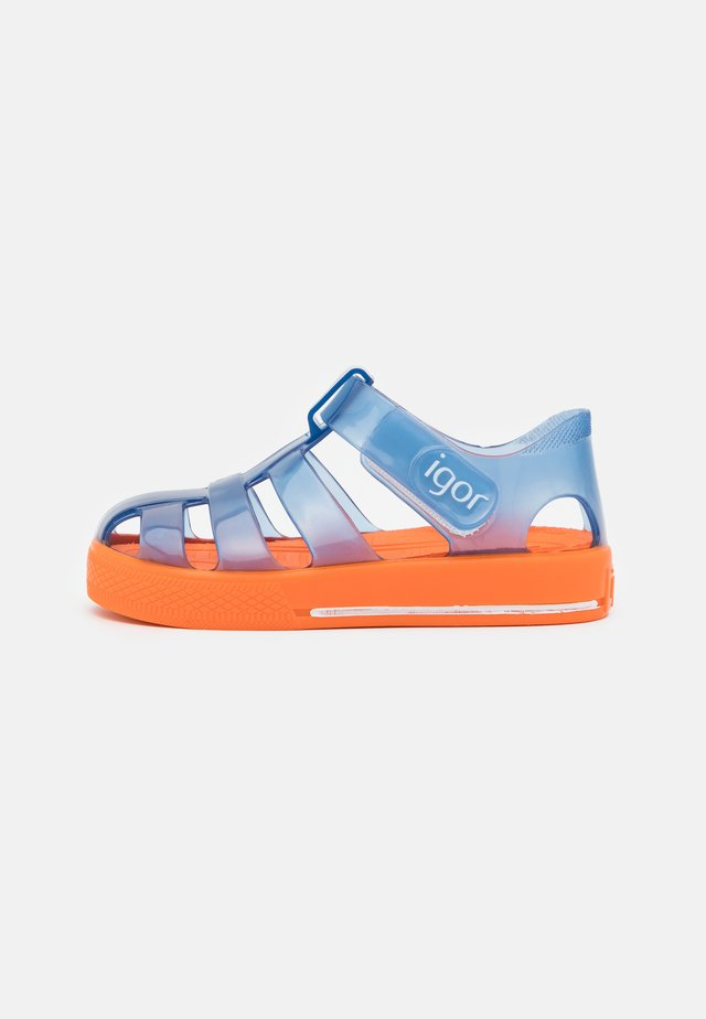 STAR BICOLOR UNISEX - Pool slides - marino/naranja