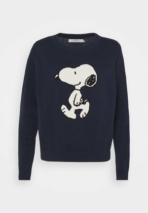 KNITTED SWEATER ARENDAL SNOOPY NAVY - Jumper - navy