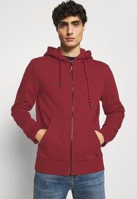 Springfield - BASICA ABIERTA - Zip-up hoodie - red - 3