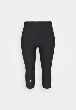 HIGH RISE CAPRI - Pantaloncini 3/4 - black
