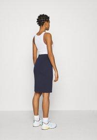 Even&Odd - BASIC - Bodycon mini skirt - Pouzdrová sukně - dark blue - 2