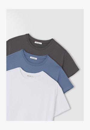 3 PACK - Print T-shirt - blue
