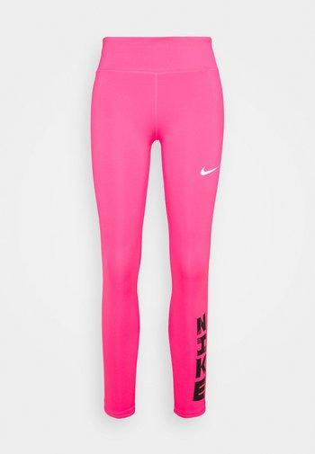 FAST - Leggings - hyper pink/white