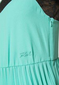 KARL LAGERFELD - 2 in 1 PLEATED DRESS - Maxi dress - aqua marine - 7
