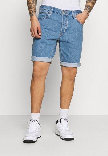 FIVE POCKET - Denim shorts - light stone