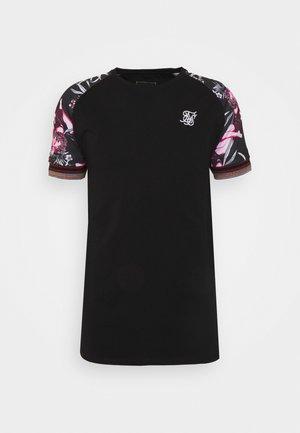 RAGLAN GYM TEE - T-shirt con stampa - black