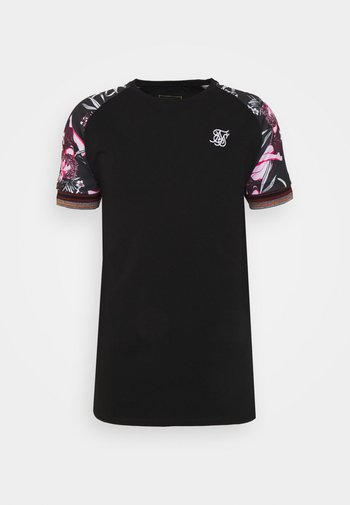 RAGLAN GYM TEE - Print T-shirt - black