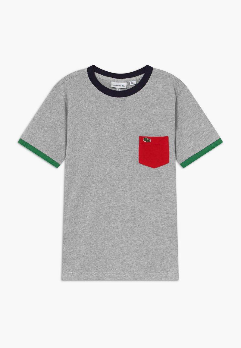 Lacoste - TEE TURTLE NECK - T-shirt imprimé - argent chine