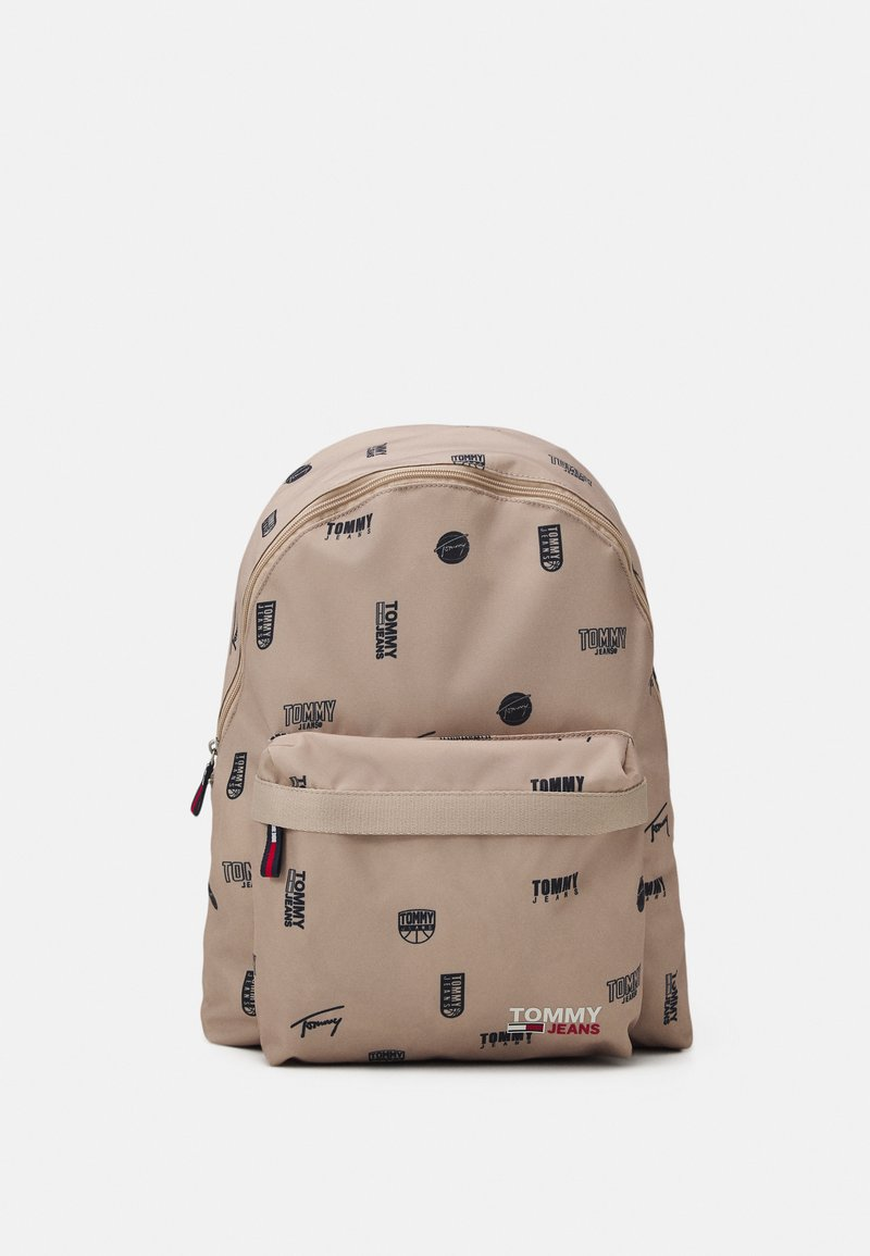 Tommy Jeans - CAMPUSDOME BACKPACK PRINT UNISEX - Ryggsäck - beige