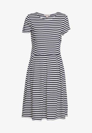 BASIC JERSEYKLEID - Žerzejové šaty - maritime blue/white
