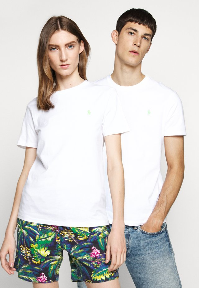 T-shirt basic - white/ant neon