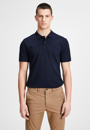Polo shirt - black/white/navy