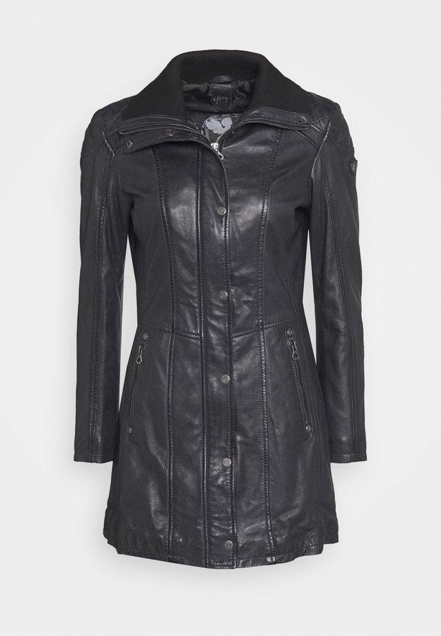 GRITT - Leather jacket - navy