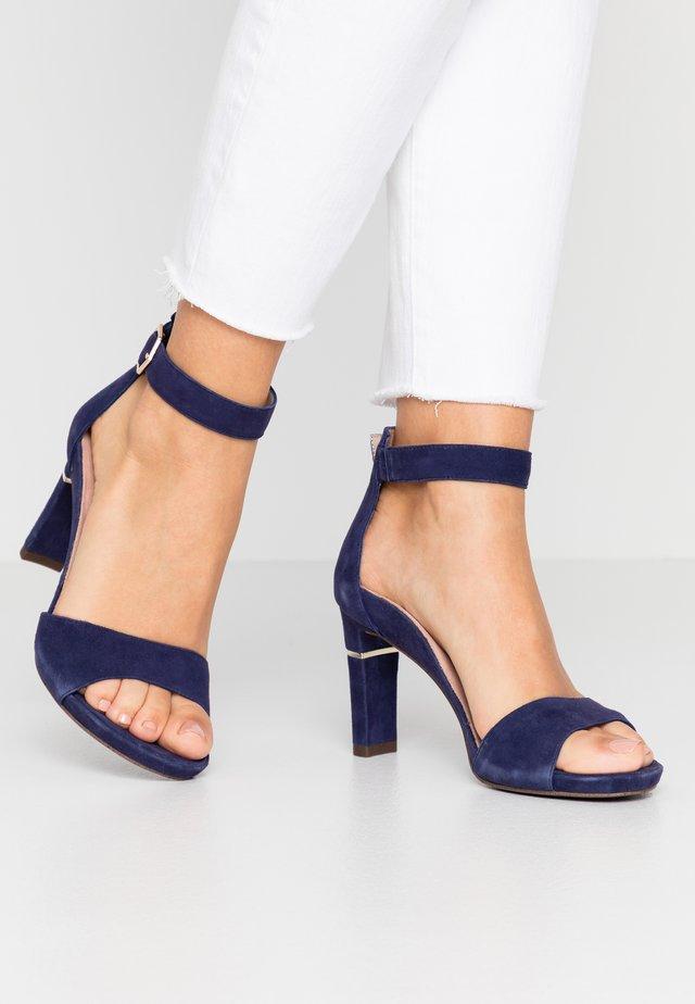 Sandály na vysokém podpatku - cobalt
