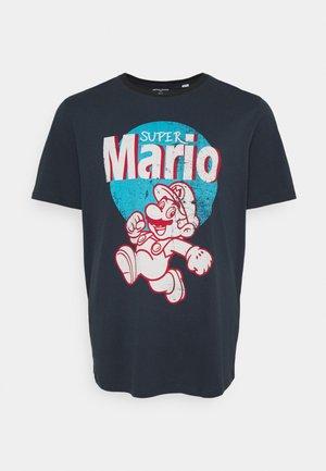 JCOSUPER MARIO TEE - T-shirt imprimé - navy blazer